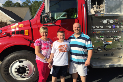 """Chayton, a childhood cancer survivor, and his family will be participating in the September 3 """"Rally for Chayton"""" Fun Run/Walk at Wildcat. Won't you join them?"""
