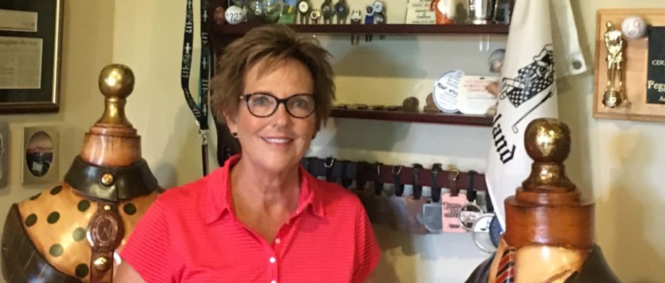 It would take a wagon to cart around all the trophies Peggy Williams has won playing golf.