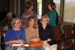 Sandy Sutter, Bobbie Hermann, and membership chair Linda Ricklef (left to right) enjoyed a moment of conversation before the Wildflower Bunch meeting. (Photo by Fran Holman)