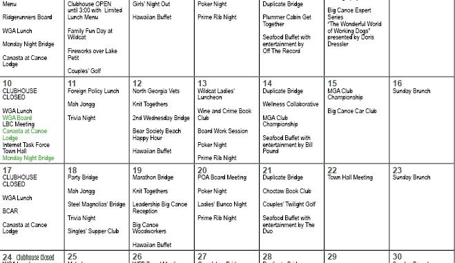 July 2017 Events Calendar - Inside the Gates